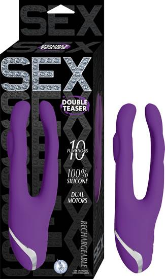 Sex Double Teaser Purple Vibrator