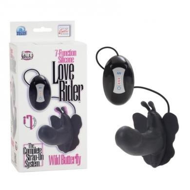 7-Function Silicone Wild Butterfly - Black
